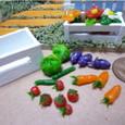 粘土の野菜と花